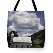 Country Church And Sign Tote Bag