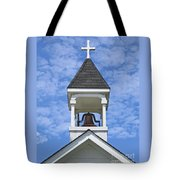 Country Church Bell Tote Bag