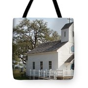 Round Top Texas Country Church Tote Bag