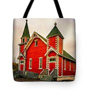 Country Church Paint Tote Bag