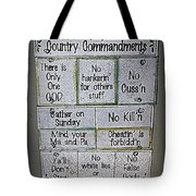 Country Commandments Tote Bag