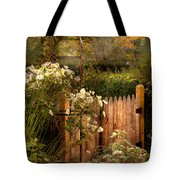 Country - Country Autumn Garden  Tote Bag by Mike Savad