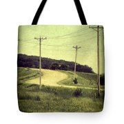 Country Dirt Road And Telephone Poles Tote Bag