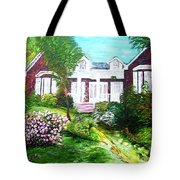 Country Estate In Spring Tote Bag