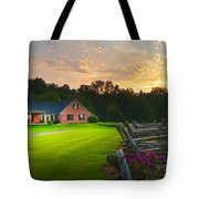Country Estate Sunset Tote Bag