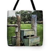 Country Farm Fence Stile Crossing Tote Bag