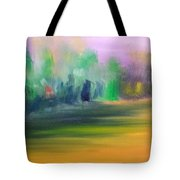 Country Field And Trees Tote Bag