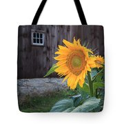 Country Flower Square Tote Bag