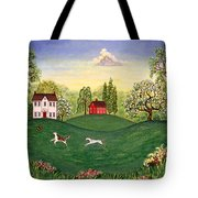 Country Frolic Two Tote Bag