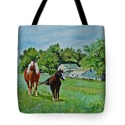 Country Horses Tote Bag
