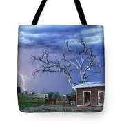 Country Horses Lightning Storm Ne Boulder County Co Hdr Tote Bag by James BO  Insogna