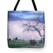 Country Horses Riders On The Storm Tote Bag