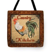 Country Kitchen Rooster Tote Bag