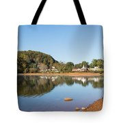 Country Lake Scene Tote Bag