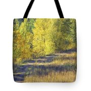 Country Lane Digital Oil Painting Tote Bag