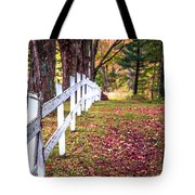 Country Lane Fall Foliage Vermont Tote Bag