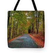 Country Lane In Autumn Tote Bag