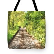 Country Lane Watercolour Tote Bag