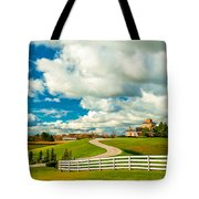 Country Living Painted Tote Bag