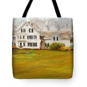 Country Moments-farmhouse In Woodstock Vermont Tote Bag
