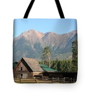 Country Ranch In Mountains Tote Bag