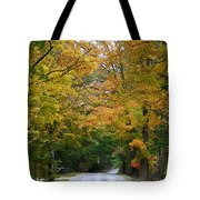 Country Road Fall Vermont Tote Bag