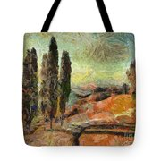 A Sunset In Tuscany Tote Bag