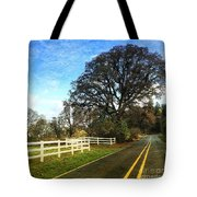 Country Road On Sauvie Island Tote Bag
