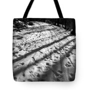 Country Road With Melting Snow In Early Spring Tote Bag