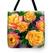 Country Roses Watercolor Tote Bag