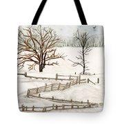 Country Snow Scene Ozaukee County Wisconsin Tote Bag