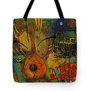 Country Songs Playing In The Background Tote Bag