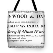 Country Trader Card, C1830 Tote Bag