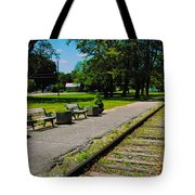 Country Train Station Tote Bag