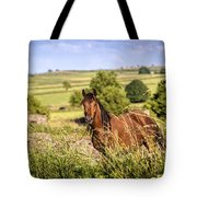Countryside Horse Tote Bag