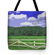 Countryside Scene Digital Painting Tote Bag