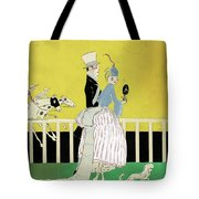 Couple At The Races, 1916 Tote Bag