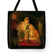 Couple Counting Money By Candlelight, 1779 Panel Tote Bag