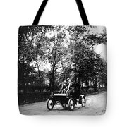 Couple Driving, C1907 Tote Bag