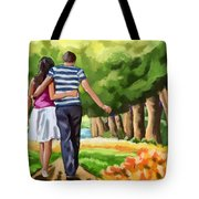 Couple In The Park 01 Tote Bag
