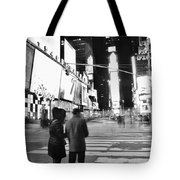 Couple In Times Square Tote Bag