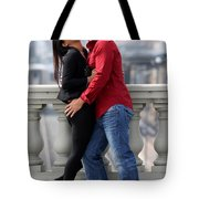 Couple Laughing Tote Bag