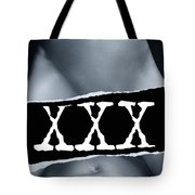 Couple Making Love And Xxx Sign Black And White Tote Bag