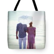 Couple On The Beach Tote Bag