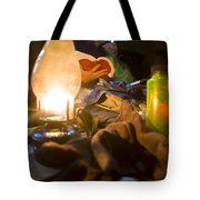 Couple Reading By Lantern, India Tote Bag