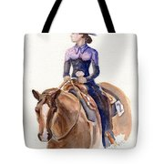 Horse Painting Cowgirl Courage Tote Bag