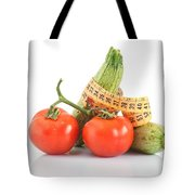 Courgettes And Tomatoes Tote Bag