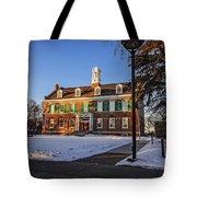 Court House In Winter Time Tote Bag