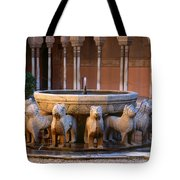 Court Of The Lions In The Alhambra Tote Bag