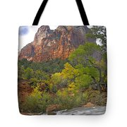 Court Of The Patriarchs Zion Np Utah Tote Bag by Tim Fitzharris